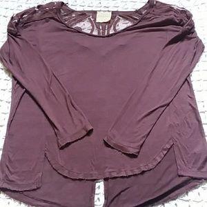 Free People long sleeve purple blouse